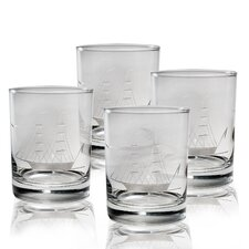 Clipper Ship 14 Oz. Glass (Set of 4)