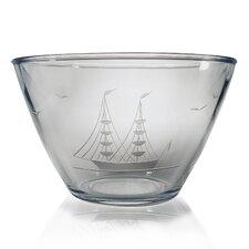 Clipper Ship Hand Cut Pattern Serving Bowl