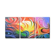 Radiance Toya 3 Piece Original Painting on Canvas Set