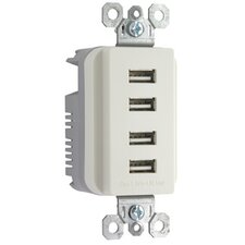 USB Chargers Quad Outlet