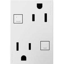 adorne Tamper-Resistant GFCI Outlet, 3-Module