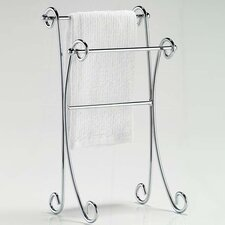 Free Standing Two Tier Curled Towel Rack