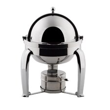 Odin Mini Chafer with Chrome Plated Legs and Porcelain Insert
