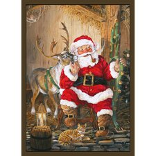 Home Accents Santa and Reindeer Area Rug