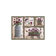 Home Accents Geraniums Area Rug