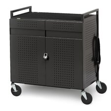 32-Compartment Laptop Storage Cart