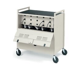 18-Compartment Laptop Storage Cart
