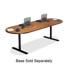 """Racetrack Conference Table,42""""x120""""x29"""",Wild Cherry"""