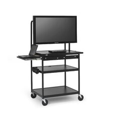 AV Cart with Laptop Shelf for Flat Panels