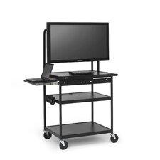 AV Cart with Laptop Shelf for Flat Panels