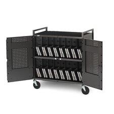 32-Compartment Laptop Storage Cart