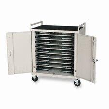 18-Compartment Laptop Storage Cart