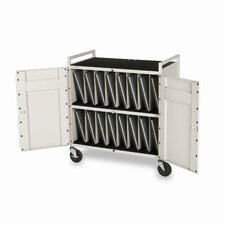 15-Compartment Laptop Storage Cart