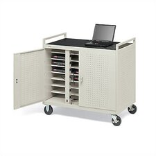 24-Compartment Laptop Storage Cart