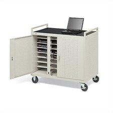 24-Compartment Laptop Storage Cart