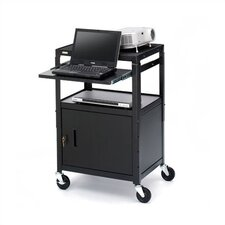 UL Listed Adjustable Presentation AV Cart