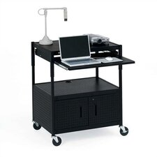 Height Adjustable Multimedia Presentation AV Cart