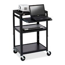 Multimedia Adjustable AV Cart with Casters