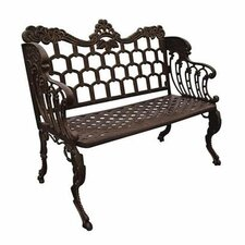 Antique Reproduction Aluminum Park Bench