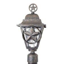 "Americana Lone Star Series 1 L antern head 19"" Post Lantern"