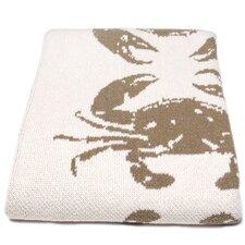 Eco Crab Cotton Throw Blanket