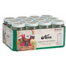 12-Ounce Decorative Jelly Jar (Set of 12)
