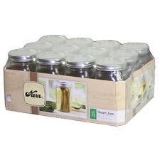 1-Quart Wide Mouth Canning Jar (Set of 12)