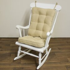 2 Piece Rocking Chair Cushion Set