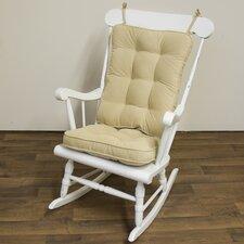 2 Piece Rocking Chair Cushion Set