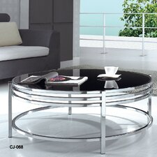 Modrest Coffee Table with Glass Top