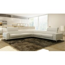 Divani Casa Cobana Modern Leather Sectional