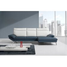 Divani Casa Leather Right Hand Facing Sectional