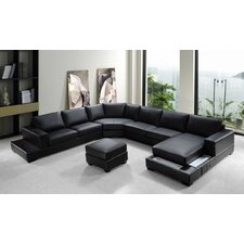 Divani Casa Ritz Leather Sectional Sofa Set