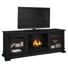 Hudson Ventless TV Stand with Electric or Gel Fuel Fireplace