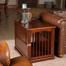 Pet Crate End Table in Walnut