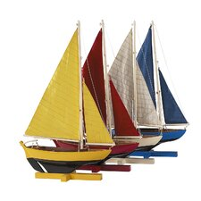 Sunset Model Boat (Set of 4)