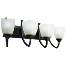 Piedmount  Four Light Vanity in Antique Bronze