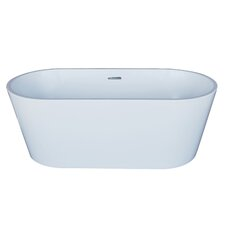 "Elsa 67"" x 32"" Oval Acrylic Freestanding Bathtub"