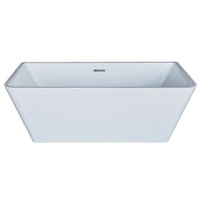 "Azurel 67"" x 32"" Rectangle Acrylic Freestanding Bathtub"