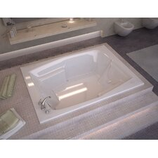 "St. Nevis 72"" x 54"" Rectangular Air Jetted Bathtub with Drain"