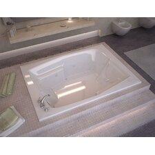 "St. Nevis 72"" x 54"" Rectangular Air & Whirlpool Jetted Bathtub with Drain"