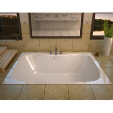 "Dominica 60"" x 48"" Rectangular Air Jetted Bathtub with Center Drain"