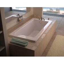 "Guadalupe 60"" x 42"" Rectangular Air Jetted Bathtub with Drain"
