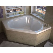 "Tobago 60"" x 60"" Corner Air Jetted Bathtub with Center Drain"