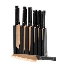 13 Piece Titanium Plated Knife Block Set