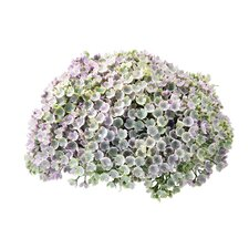 Faux Violet Halfball Floor Plant (Set of 2)