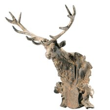 Cast Iron Mounted Buck Head Figurine