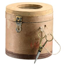 Home Decor Cardboard Container with Jute Ball and Scissors
