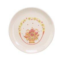 Porcelain Flower Basket Plate (Set of 12)