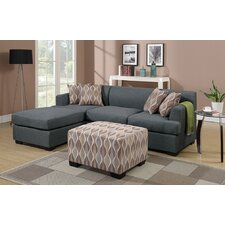 Bobkona Winfred Reversible Chaise Sectional